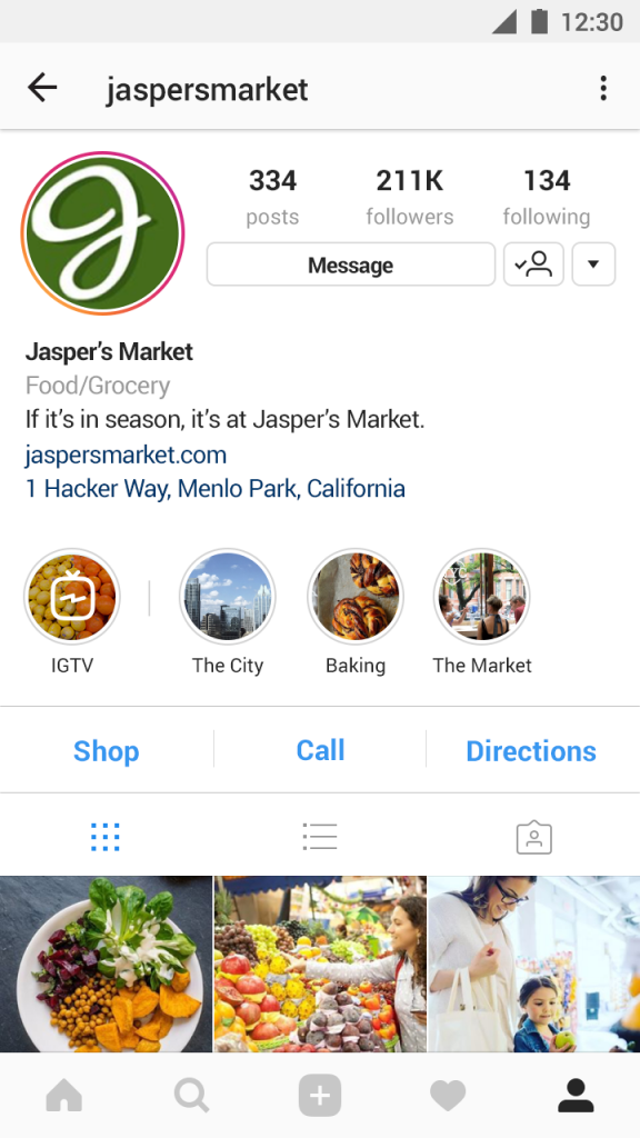 Profile Business Android